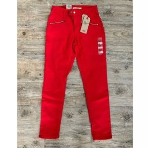 NWT LEVI'S '721' Red High-Rise Skinny Ankle Jeans